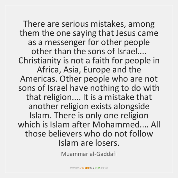 There are serious mistakes, among them the one saying that Jesus came ...