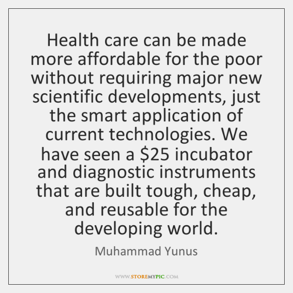 Health care can be made more affordable for the poor without requiring ...