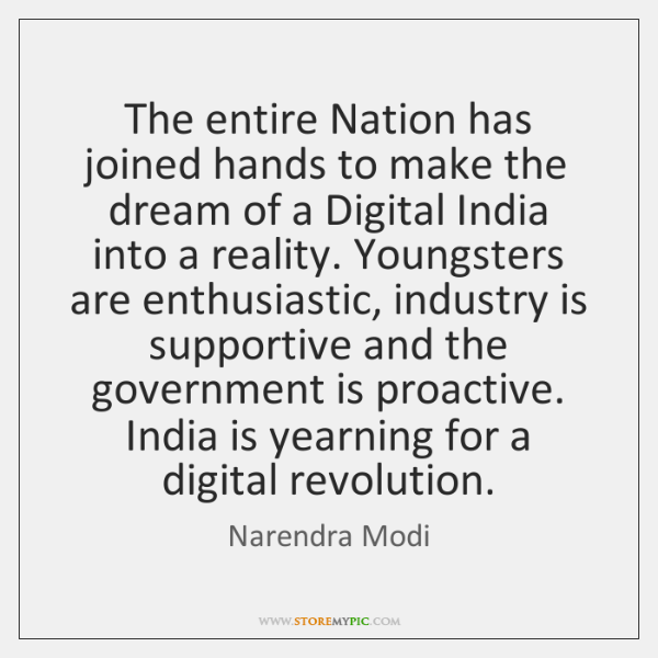 The entire Nation has joined hands to make the dream of a ...