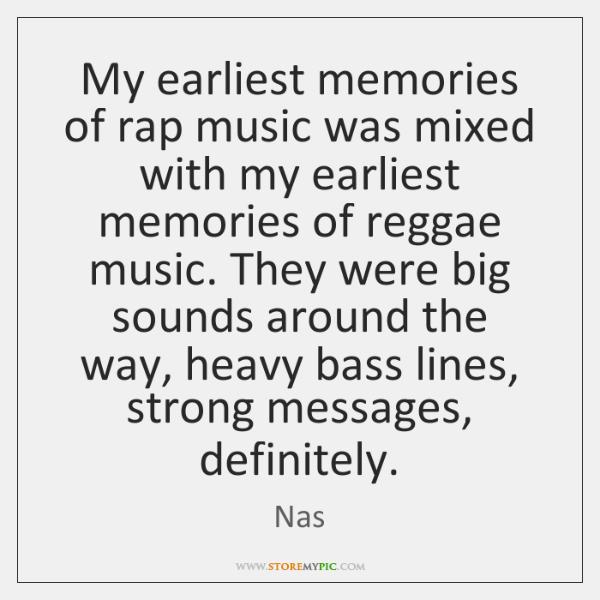 My earliest memories of rap music was mixed with my earliest memories ...