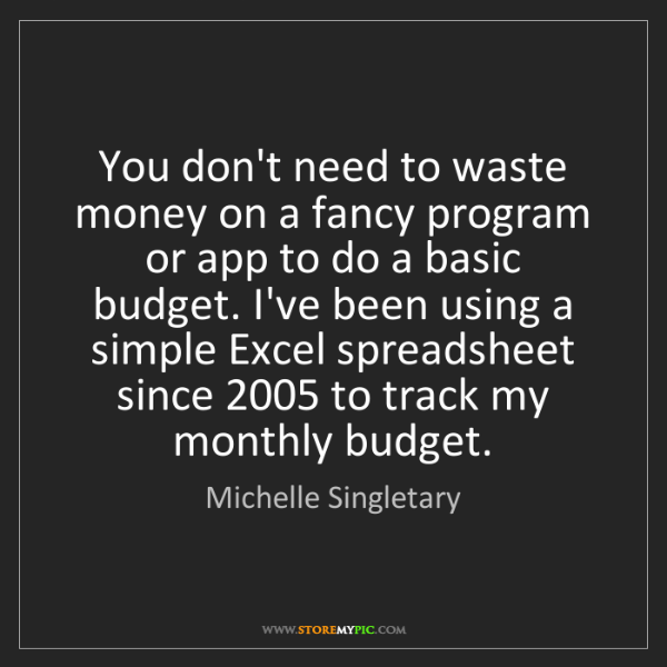 Michelle Singletary: You don't need to waste money on a fancy program or app...