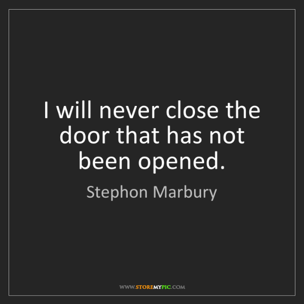Stephon Marbury: I will never close the door that has not been opened.