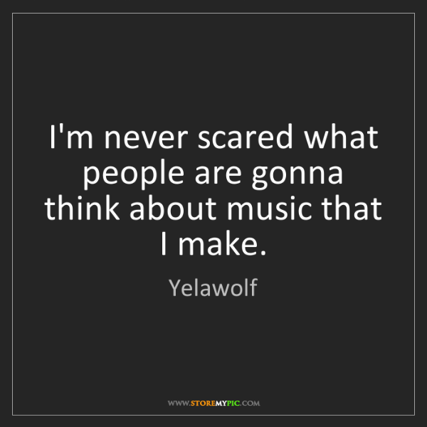 Yelawolf: I'm never scared what people are gonna think about music...