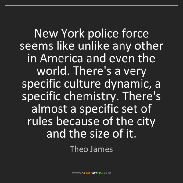 Theo James: New York police force seems like unlike any other in...