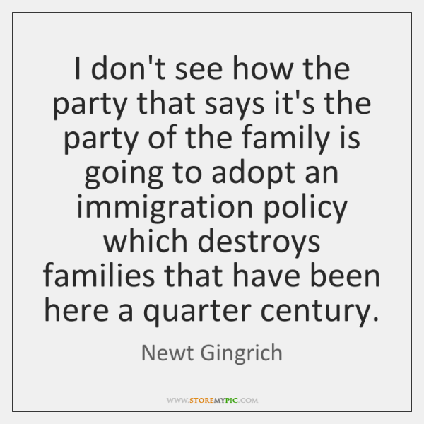 I don't see how the party that says it's the party of ...