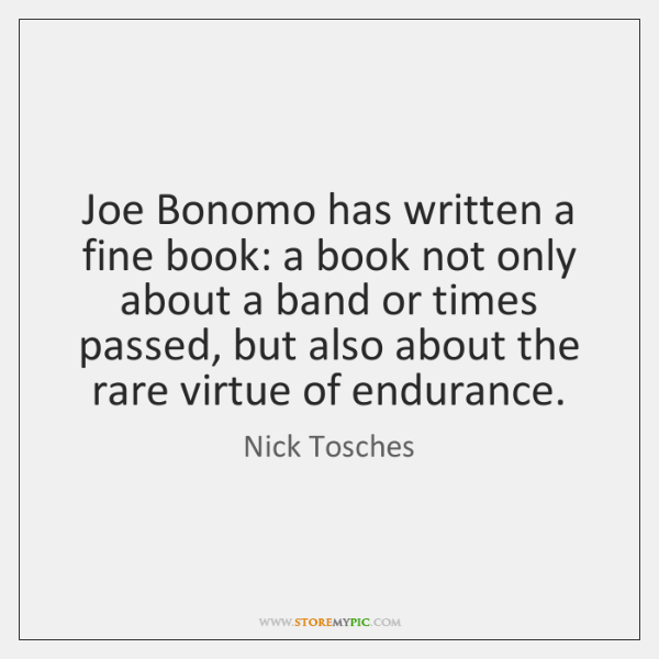 Joe Bonomo has written a fine book: a book not only about ...