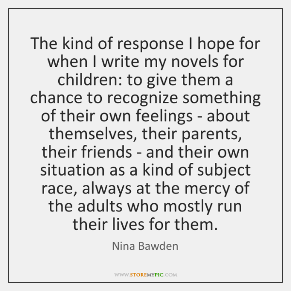 The kind of response I hope for when I write my novels ...