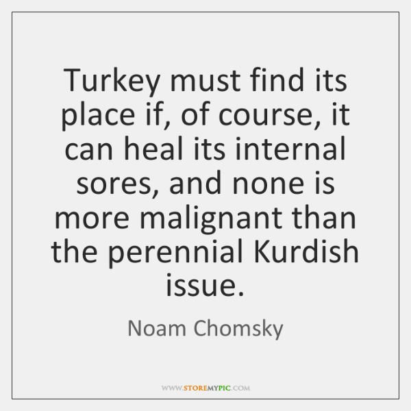 Turkey must find its place if, of course, it can heal its ...