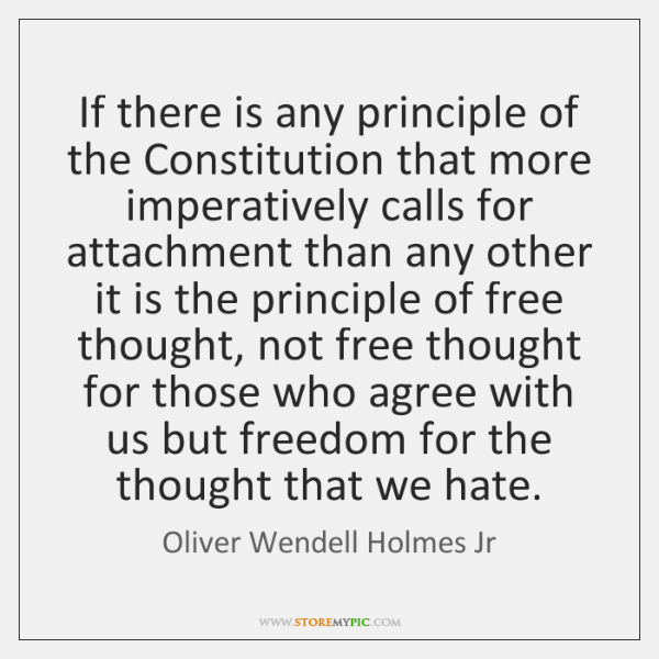 If there is any principle of the Constitution that more imperatively calls ...