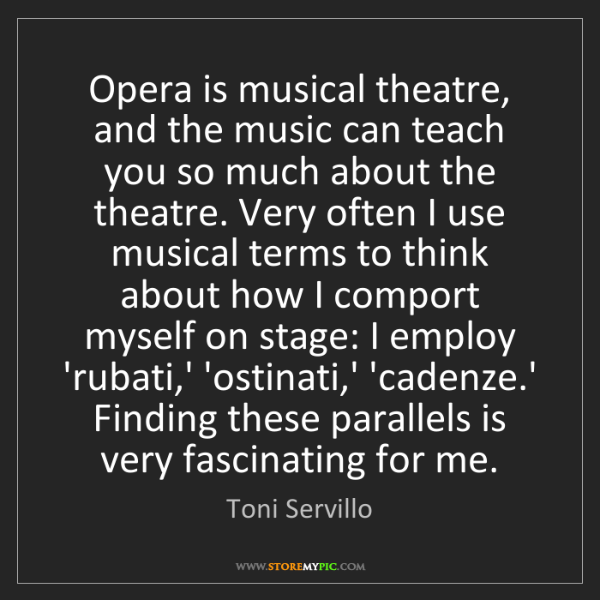 Toni Servillo: Opera is musical theatre, and the music can teach you...