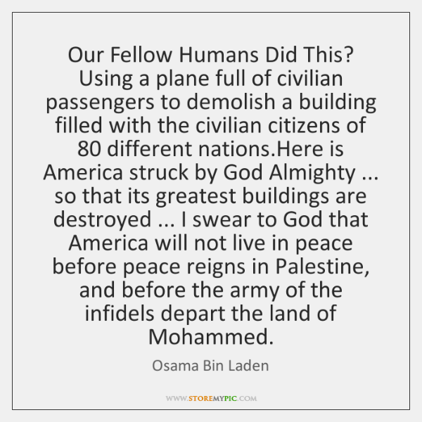 Our Fellow Humans Did This? Using a plane full of civilian passengers ...