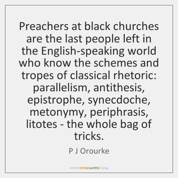 Preachers at black churches are the last people left in the English-speaking ...