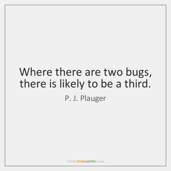 Where there are two bugs, there is likely to be a third.