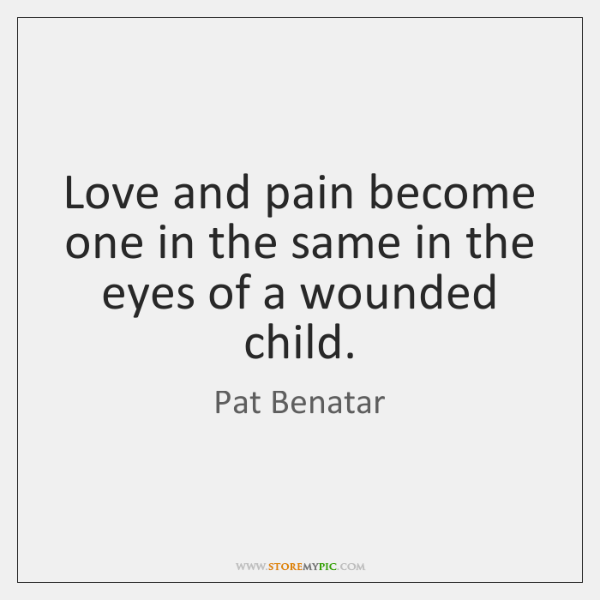 Love and pain become one in the same in the eyes of ...