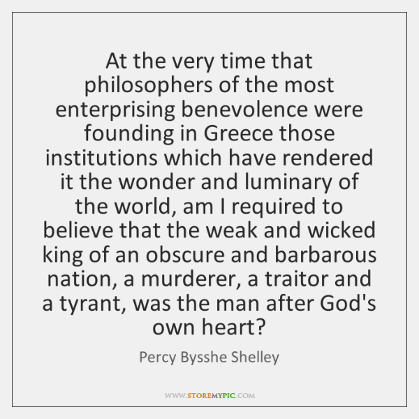 At the very time that philosophers of the most enterprising benevolence were ...
