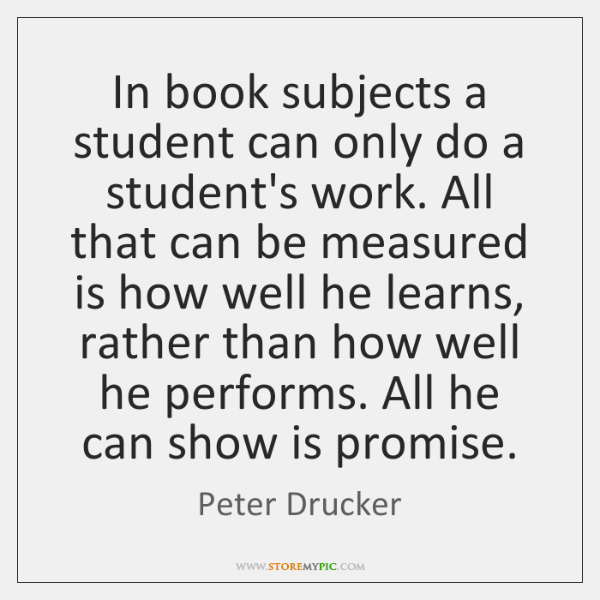 In book subjects a student can only do a student's work. All ...