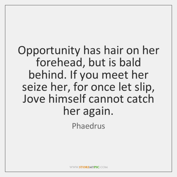 Opportunity has hair on her forehead, but is bald behind. If you ...