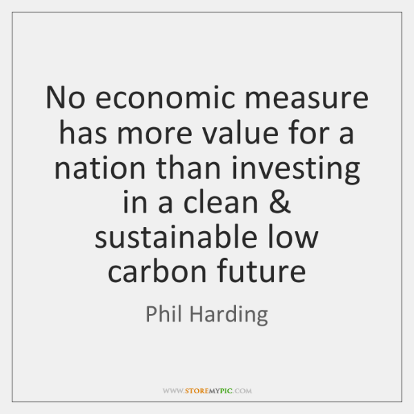 No economic measure has more value for a nation than investing in ...