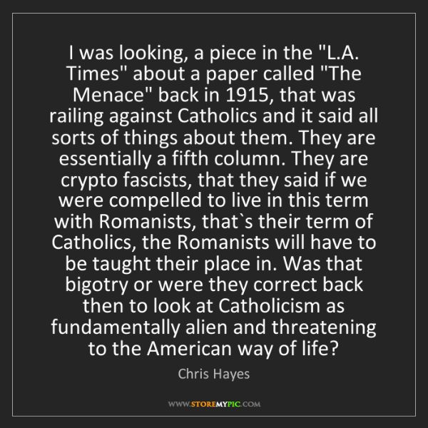 "Chris Hayes: I was looking, a piece in the ""L.A. Times"" about a paper..."