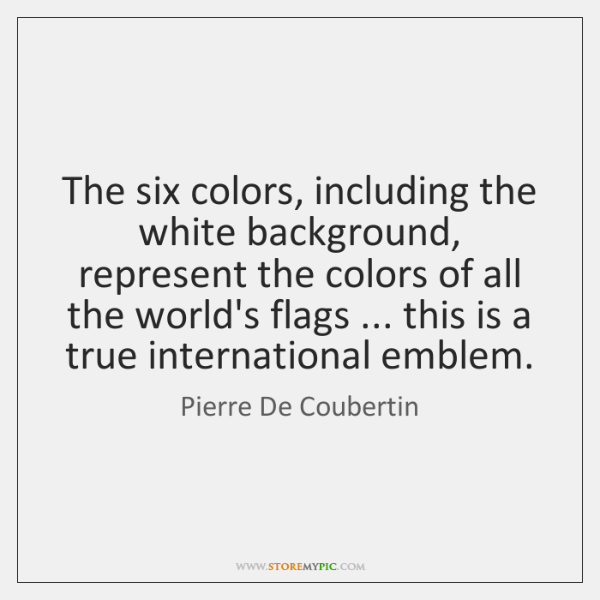 The six colors, including the white background, represent the colors of all ...
