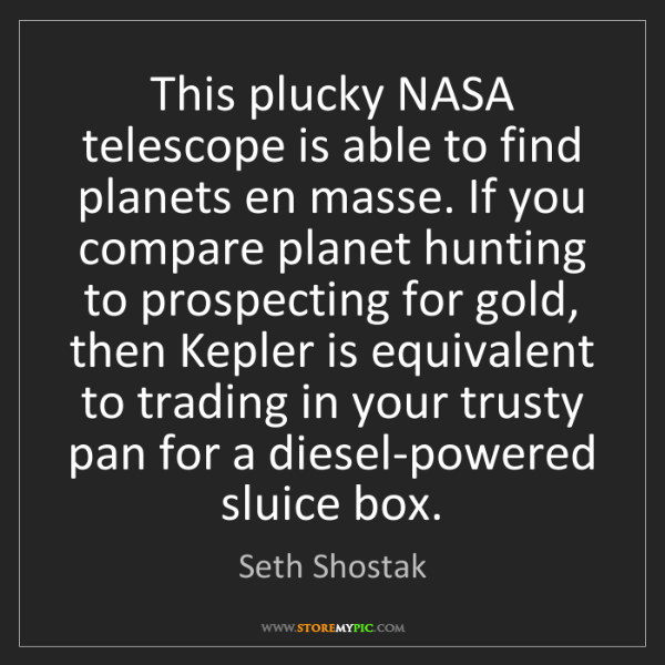 Seth Shostak: This plucky NASA telescope is able to find planets en...