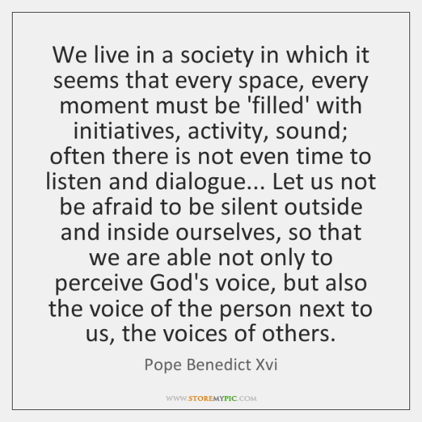 We live in a society in which it seems that every space, ...