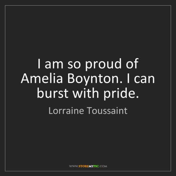 Lorraine Toussaint: I am so proud of Amelia Boynton. I can burst with pride.