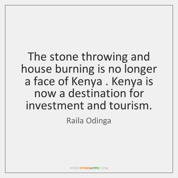 The stone throwing and house burning is no longer a face of ...