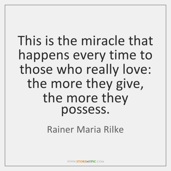 This is the miracle that happens every time to those who really ...