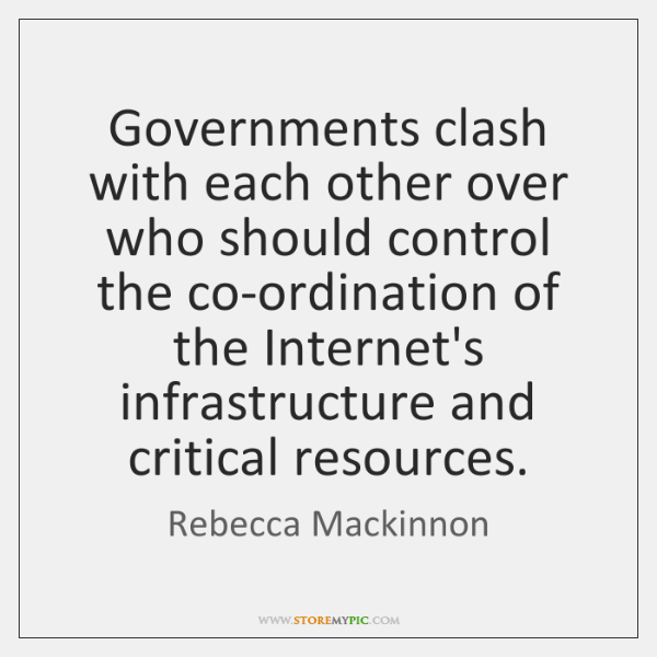 Governments clash with each other over who should control the co-ordination of ...