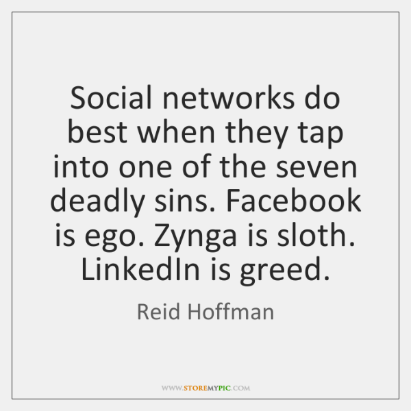 Social networks do best when they tap into one of the seven ...