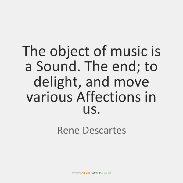 The object of music is a Sound. The end; to delight, and ...