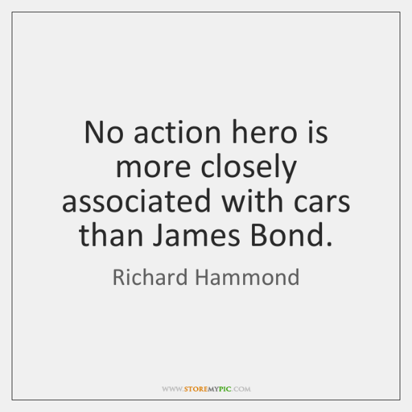 No action hero is more closely associated with cars than James Bond.
