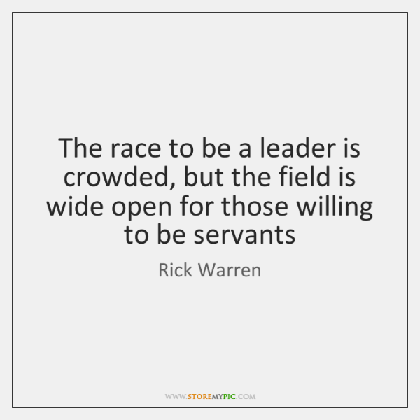 The race to be a leader is crowded, but the field is ...