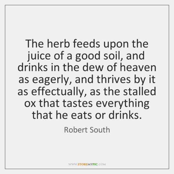The herb feeds upon the juice of a good soil, and drinks ...