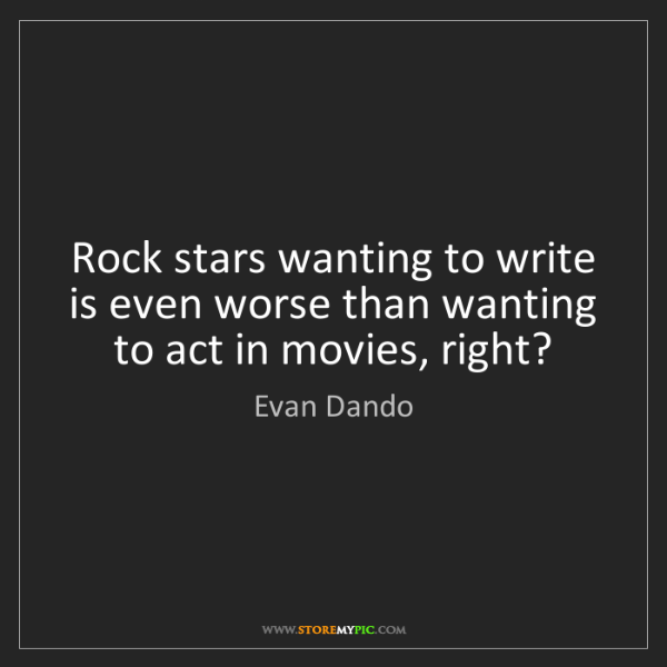 Evan Dando: Rock stars wanting to write is even worse than wanting...