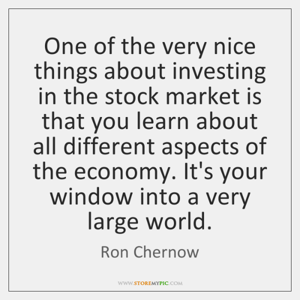 One of the very nice things about investing in the stock market ...
