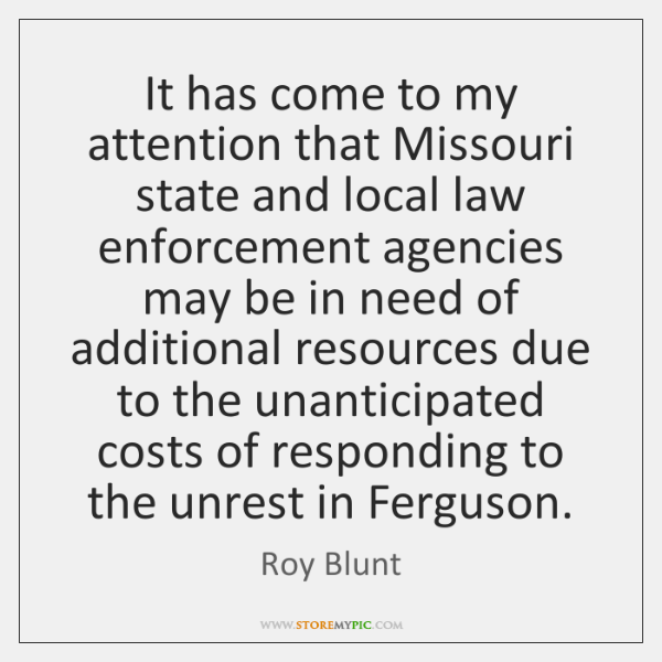 It has come to my attention that Missouri state and local law ...