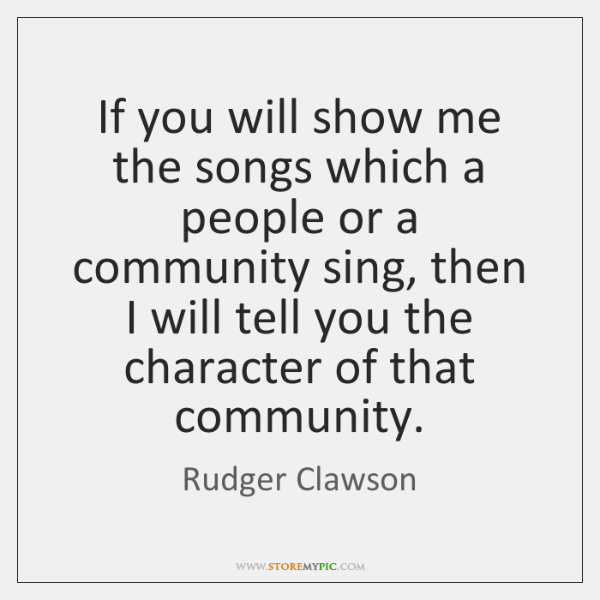 If you will show me the songs which a people or a ...