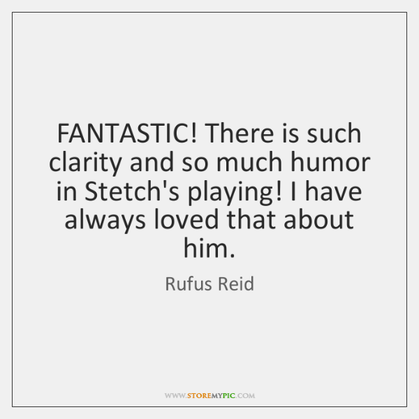 FANTASTIC! There is such clarity and so much humor in Stetch's playing! ...
