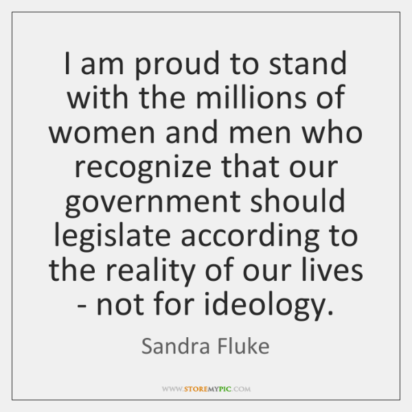 I am proud to stand with the millions of women and men ...