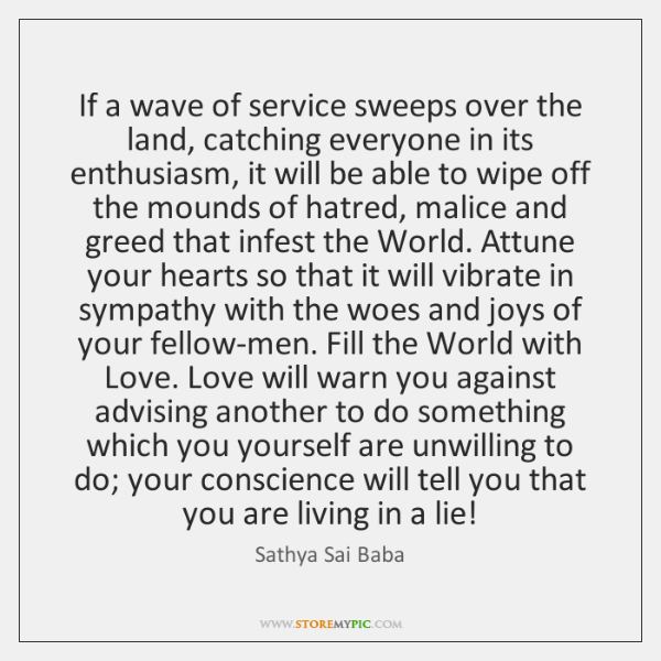 If a wave of service sweeps over the land, catching everyone in ...