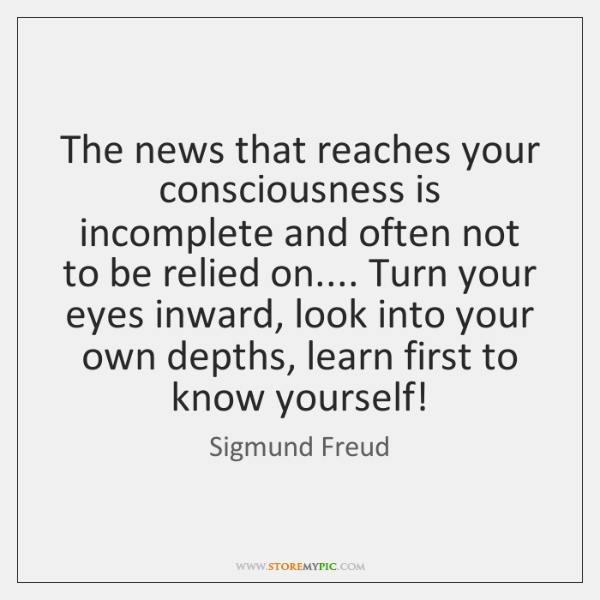 The news that reaches your consciousness is incomplete and often not to ...