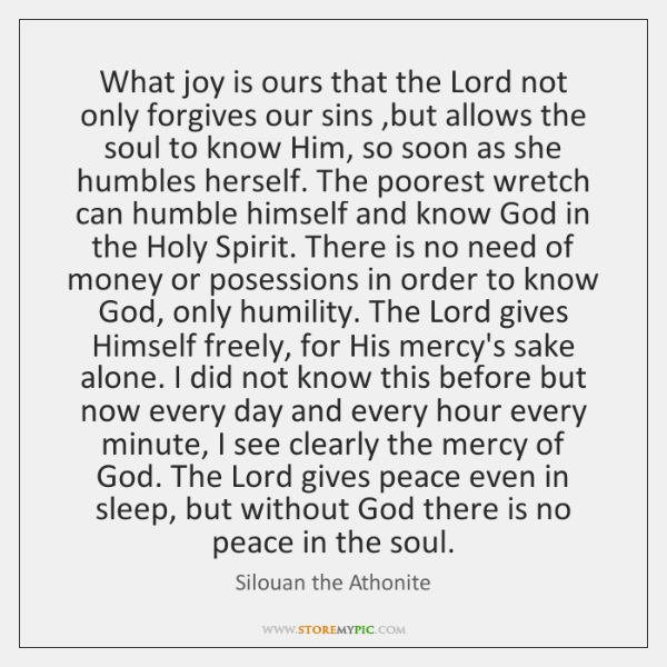 What joy is ours that the Lord not only forgives our sins ,...