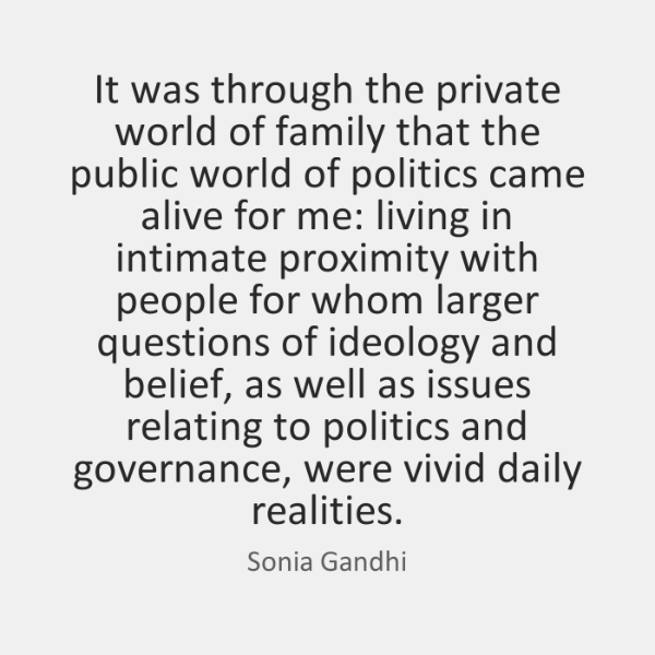 It was through the private world of family that the public world ...