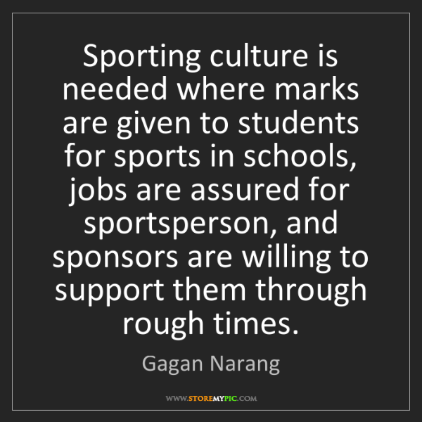 Gagan Narang: Sporting culture is needed where marks are given to students...