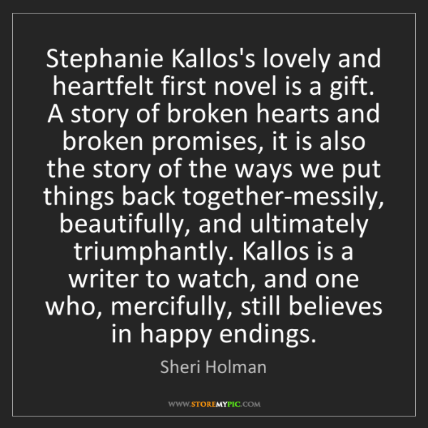Sheri Holman: Stephanie Kallos's lovely and heartfelt first novel is...