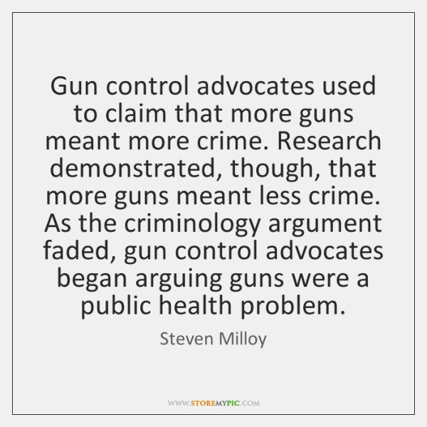 Gun control advocates used to claim that more guns meant more crime. ...
