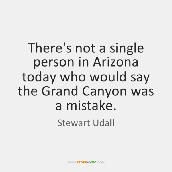 There's not a single person in Arizona today who would say the ...