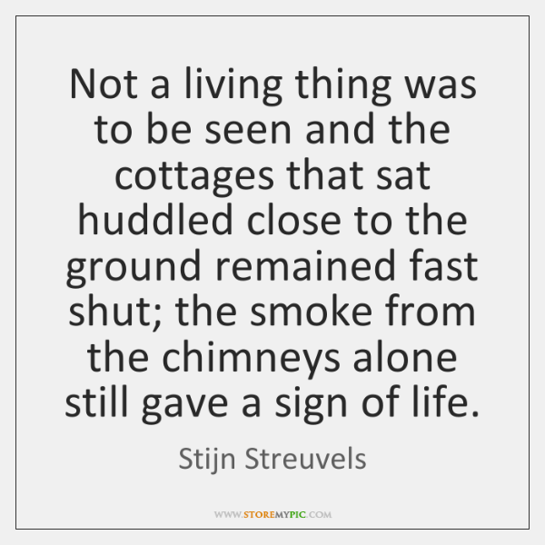 Not a living thing was to be seen and the cottages that ...